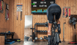 Indoor training with TrainerRoad