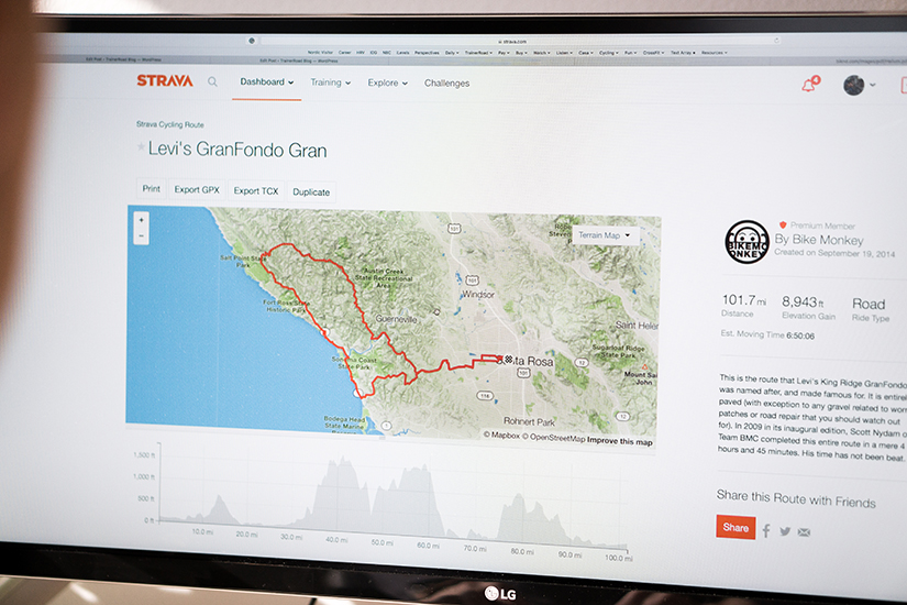 This is the GPS route file for the 2021 Levi's Gran Fondo which will help your training and race day preparation.