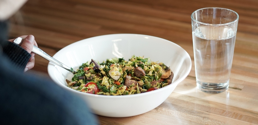 Fueling workouts should include a health dose of carbs like this rice salad.
