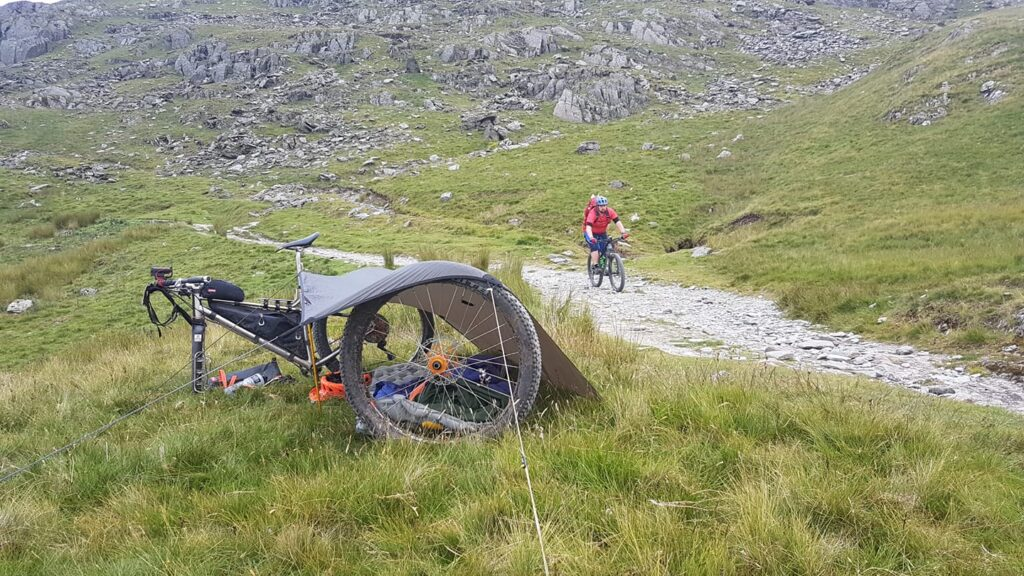Rob used training for bikepacking to descend the Walna Scar climb.