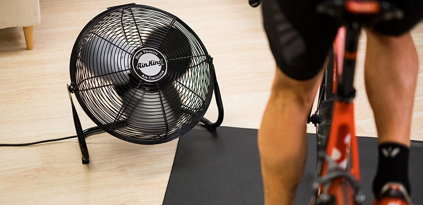 This is a indoor training setup with a fan, which is the best choice for completing a FTP test.